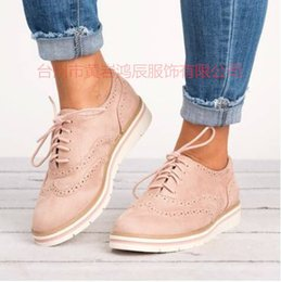 d7730f684e3a Plus Size 43 New Vintage Fashion Brogue Shoes Women Platform Oxfords  Cut-Outs Flats Casual Ladies Shoes Lace Up Female Footwear