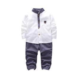 6fcd2089e6b33 7 Photos Acheter en ligne Costumes de linge pour garçon-nouvelle automne  bébé garçons vêtements ensembles de