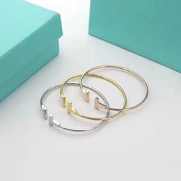 2019 men s gold onyx bracelets 20Have марки Популярные бренды моды T дизайнеры Браслет для леди Дизайн женщинTiffany Party подарок Роскошные ювелирные изделия с для невесты