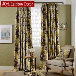 2019 vorhang falten stile Europäische Gedruckt Floral Vorhänge Luxus Vorhänge Stoff Moderne Jalousien Vorhang Für Schlafzimmer Gordijnen Rideaux Shading 80%