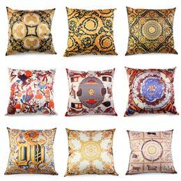 travesseiro real Desconto Almofada de luxo real capa de tecido de cetim de alta qualidade Throw Pillow Case for Decoração de Natal Hotel Sofá cama fronha