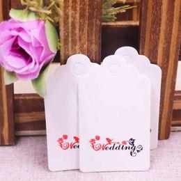 großhandel weiße geschenk-tags Rabatt Großhandel 3x5cm weiß / kraft PriceTags Hand Made Geschenkanhänger mit Liebe Danke DIY Papierkarten Kleidungsstück TagsTagging Tags 100PCS