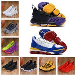 venda final Desconto 2019 Hot Sale LeBrons James 16 Sapatos de Basquete Mens James 16 Ouro / Campeonato MVP finais tênis de Treinamento Esportivos Tênis de Corrida Tamanho 40-46