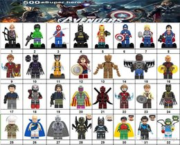 Deutschland Wholsale Superheld Mini Figuren Marvel Avengers DC Justice League Wunderfrau Ironman Batman Black Panther Bausteine ​​Kindergeschenke Versorgung