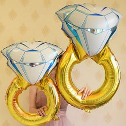 2019 festa de aniversário das decorações do diamante Balões de diamantes coloridos crianças balão De Ar De Hélio crianças feliz Aniversário de casamento Dia dos Namorados Festa de Natal diy Decorações balão festa de aniversário das decorações do diamante barato