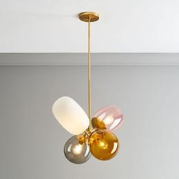 Globos de cristal online-globo colgado cristal lámpara moderna habitación de un niño de múltiples colores de techo llevada lámpara colgante