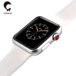 Магнитная адсорбция Беспроводная зарядка Goophone Watch 3 Smart Watch 42 мм Bluetooth 4.0 MTK2502C Носимые SmartWatch для iPhone X Goophone X от Поставщики смарт-часы bluetooth windows phone