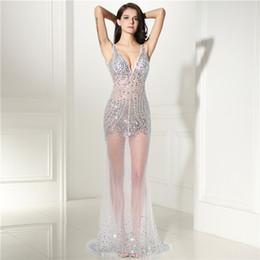 2019 Seks Elbise Boncuk Sparkles V Boyun Abiye Kadınlar Için Zarif Uzun Parti Elbise Artı Boyutu Destek özelleştirilmiş cheap sex evening dresses nereden gece elbiseleri tedarikçiler