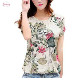 camicetta superiore delle donne coreane delle signore Sconti Moda allentato casuale camicia camicetta coreana 2019 Nuovo Blusas stampa floreale delle donne Felpe Ladies Shirts Estate Tops 2XL