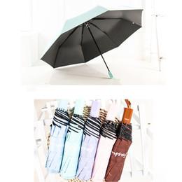 Guarda-chuva de proteção solar uv on-line-Ensolarado E Chuvoso Guarda-chuva Da Senhora À Prova D 'Água À Prova de Vento Sombra Guarda-sóis de Viagem Portátil Proteção UV Três-folding Umbrella DBC DH0842