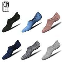 Hochwertige bahnsteife Herrensportsocken mit rutschfesten Silikonsocken Designer unsichtbare Herrensocken in verschiedenen Farben erhältlich von Fabrikanten