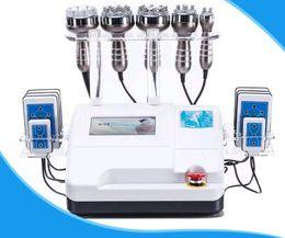 Canada 6in1 40K cavitation ultrasonique multipolaire RF 8 pads LLLT lipo aspiration laser liposuccion amincissant machine soins de la peau salon spa supplier cavitation pads Offre