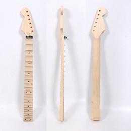 2019 guitarras festoneadas Guitarra festoneada completa Reemplazo de guitarra eléctrica 24 trastes Maple Unfinished rebajas guitarras festoneadas