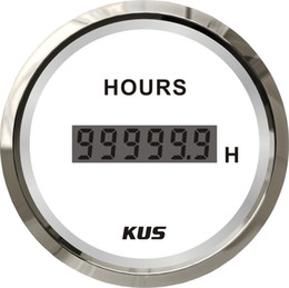 """2019 carro levou relógio tempo KUS Warranted Hour Meter Medidor Com Luz De Fundo 52mm (2 """") 12V / 24V"""