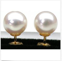 Canada AAA +++ RONDE PARFAITE DE 8 MM BLANCHE AKOYA PERLES BOUCLE D'OREILLE cheap akoya perfect white pearl Offre