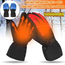 нейлоновые водонепроницаемые перчатки Скидка Электрический тепловой подогревом перчатки USB рука теплее аккумуляторная батарея для мотоцикла лыжи перчатки груза падения