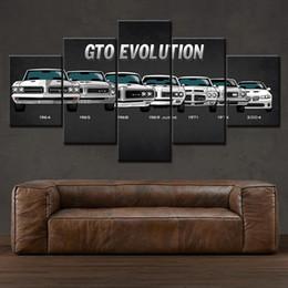 2019 carros pontiac Carro desportivo pintura de tela impressões Decoração Muscle 5 Painel de Veículo Carro americano Pontiac GTO Retro Wall Art Modular Pictures carros pontiac barato
