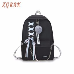 Nastri tela zaino donne arco a grande panno carino gioventù borsa fresca con cerniera scuola per zaini da viaggio Moda Back Pack da