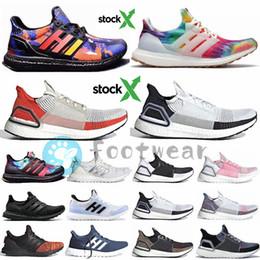 Buenas zapatillas para correr online-Con Stock x Ultra Boost 4.0 5.0 19 20 ultraboost hombre agradable retrocesos de los zapatos para correr Woodstock Rainy Season hombres zapatos de mujer entrenadores deportivos zapato