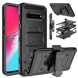 Samsung teléfono giratorio online-Funda para teléfono Funda protectora a prueba de golpes 3in1 con clip giratorio para cinturón Soporte compatible con iPhone 11 XS MAX XR Samsung S10 Note10 Plus
