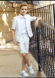 костюмы для общения Скидка Популярные One Button Notch Отворот Малыш Полный Дизайнер Красивый Мальчик Свадебный Костюм Одежда для мальчиков на заказ (Куртка + брюки + галстук) A40