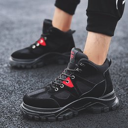 scarpe da uomo inverno Sconti Perimedes Winter Men Retro Keep Warm Tooling Shoe Resistente al fondo spesso Desert Boots