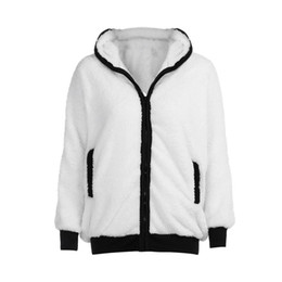 Femmes mignon panda oreille queue polaire zippé à capuche vêtements de plein air lâche manteau veste douce ? partir de fabricateur