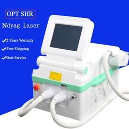 лазерная акне лица Скидка IPL лазерная эпиляция Elight IPL РФ SHR лазерная FACE лечение акне NdYAG машины лазерное удаление татуировки