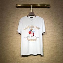 Homens verão Carta Imprimir Algodão Jersey T-shirt Moda Estilo Rua Mulheres Tripulação Pescoço Mangas Curtas T-shirt supplier crew neck jerseys de Fornecedores de camisas de pescoço