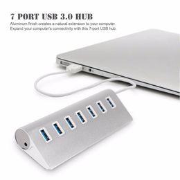 centro de imac Rebajas USB HUB Premium 4/7 Ports Hub USB de aluminio con cable blindado de 11 pulgadas para iMac, MacBooks, PC y computadoras portátiles