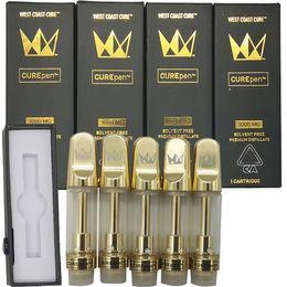 Cartuccia Vape West Coast Cure Pen imballaggi vuoti Vape Pen 510 Ceramic Cartridge E Cigarettes Vape Carrelli 0.8ml 10ML Olio Atomizer vaporizzatore da