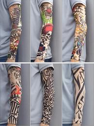 3D Printed Cool Fake Elastic UV Protection Arm Warmers Unisex Tattoo Sleeve 2017