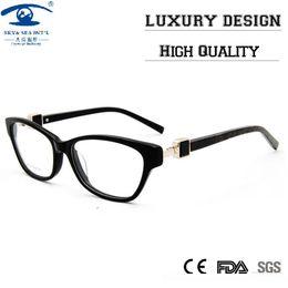 Alta qualidade da borboleta Personalizado Quadros de óculos com strass Limpar Lens Mulheres Lens Optical Óculos Frames Rx de
