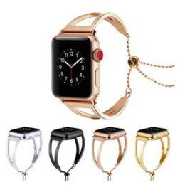 2019 correa de reloj de manzana 42mm Correa de acero inoxidable de lujo para Apple Watch Band 42mm 38mm Link Bracelet Watchband para IWatch 3/2/1 Metal Wrist Belt