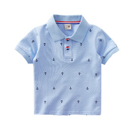 e428b477 Boutique Boys clothes Polo shirt Anchor Sailboat Dinosaur Print Polos Tops  100% Cotton Breathable 18 Designs 18M 2T 3T 4T 5T 6T