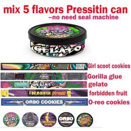 Keksmaschine online-MIX 5 Flavours Oreo Kekse PRESSITIN DOSE Forbidden GSC GELATO Gorilla Kleber Thunfischdose no need Seal Machine