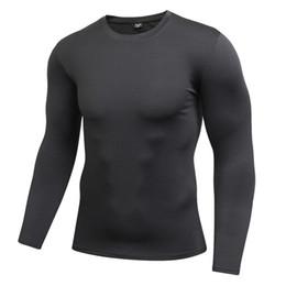 Maglietta da uomo T-shirt Bodybuilding Abbigliamento Fitness Maglietta a maniche lunghe T-Shirt Homme Compressione Tees Solido Quick Dry da