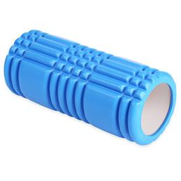 Trasporto libero del rullo della gomma piuma online-Spedizione gratuita Yoga Pilates Fitness Foam Roller Yoga Colonna Train Gym Massage Grid Trigger Point Therapy Exercise Physio