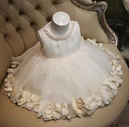 Artigos de vestidos de noiva on-line-Produtos de alta qualidade crianças vestido de noiva para meninas flores crianças princesa vestidos de festa branco puro big children costume 100-160 ab2748
