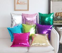 panno per arredamento Sconti Cuscino in lamina di poliuretano Federa per cuscino di colore Soild Cuscino in lamina d'oro Divano per auto Cuscino per sedia Home Decor