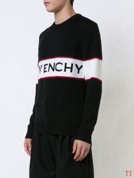 2019 tricots de sport Givenchy 19SS d'hiver en Europe Paris Etoiles Mode Hommes Pulls Sport Pull femme Casual hommes shirt classique Pull O-Neck Maille JD51 tricots de sport pas cher