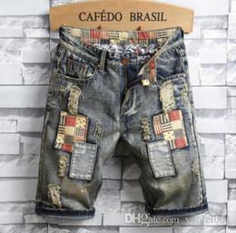 Canada Personnalité européenne et américaine de jeans d'été pantalons autocollants de personnalité masculine rétro marée de vacances pour hommes cinq Offre