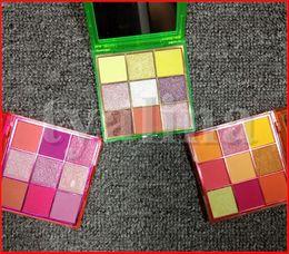 Beauty Obsessionen 9 Farben Augen Make-up Neon Pink Orange Grün Lidschatten-Palette Schimmer Matte Lidschatten von Fabrikanten