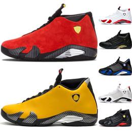 2019 обувь для обуви Дешевые 14 Candy Cane 14 s Мужчины Баскетбольная Обувь Черный Toe Desert Sand Белый Красный Желтый Мужской Тренер Спортивные Спортивные Кроссовки Оптовая скидка обувь для обуви