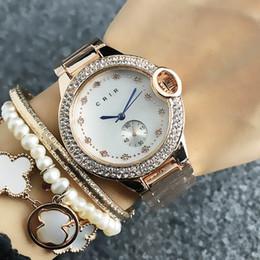 2019 mädchen schöne uhren Frauen-Kristallartzifferblatt-Stahlband Quarz-Armbanduhr Uhr CA09 der schönen Frauen der Art und Weise günstig mädchen schöne uhren