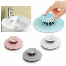 Filtro per capelli del lavandino del bagno online-Bagno Drain Capelli Catcher Bagno Tappo Plug Sink Colino Filtro Doccia Copertine TPR 5 Colori DEC497
