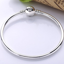 925 Sterling Silver Bangle Wonderful World Park Castlel Fermoir Lisse Bracelet Bracelets Fit Perle Charme DIY Europe Bijoux ? partir de fabricateur