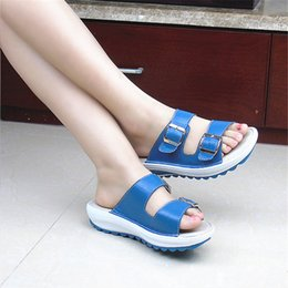 2d2b85259fe6cb Discount thick wedge flat sandals - New 2019 Tide Style Fashion Summer  Women S Sandals Thick Bottom