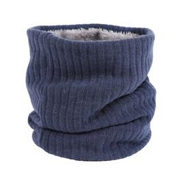 Теплый мех для шеи для мужчин онлайн-Мужская зима Бесконечности шарф с искусственного меха вязать шеи теплее коренастый мягкий толстый круг петли шарфы для женщины мужчина