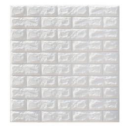 2019 adesivos de parede para vestiários Apuramento 6mm Pe Espuma 3d Papel De Parede DIY Adesivos De Parede Decoração Da Parede Em Relevo De Tijolo De Pedra Papel De Parede Quarto Casa 70X77 Poster